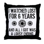 Lousy Ending Throw Pillow