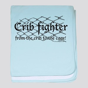 Crib Fighter Cage baby blanket