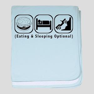 Eat Sleep Crawl baby blanket