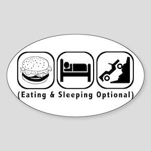 Eat Sleep Crawl Sticker (Oval)