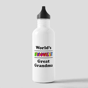 World's Grooviest Great Grandma Stainless Water Bo