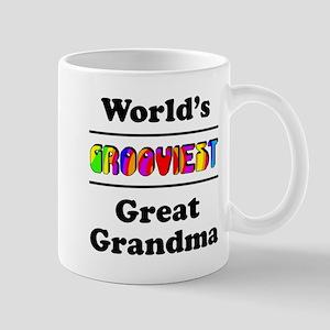 World's Grooviest Great Grandma Mug