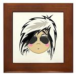 Cute Emo Punk Girl Framed Tile