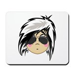 Cute Emo Punk Girl Mousepad