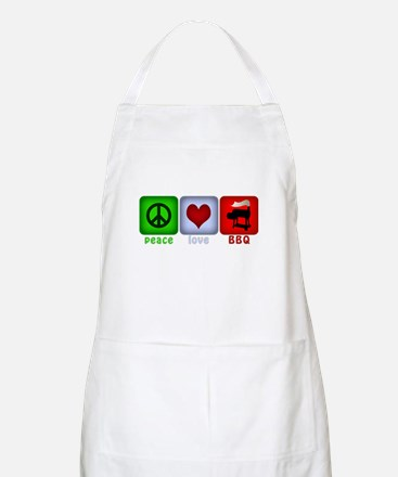 Peace Love and BBQ Apron