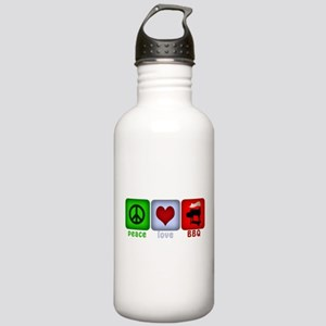 Peace Love and BBQ Stainless Water Bottle 1.0L
