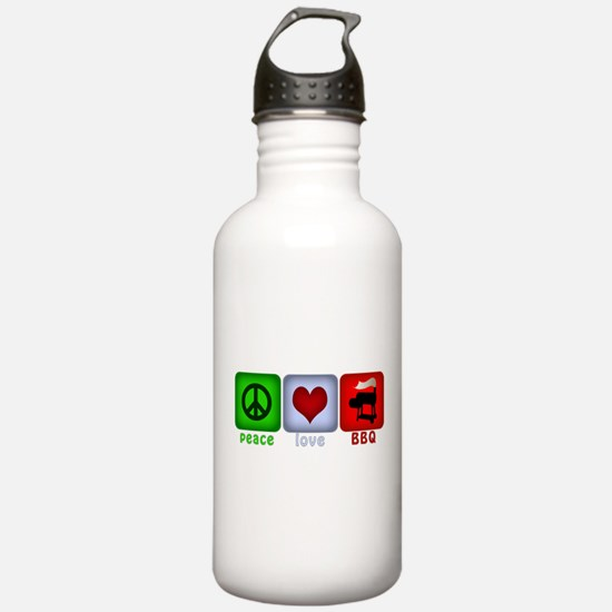 Peace Love and BBQ Water Bottle