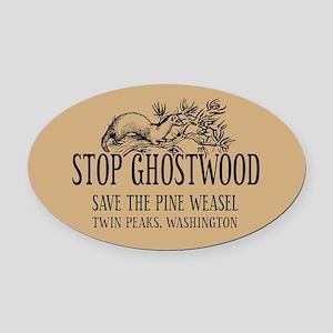 Stop Ghostwood Pine Weasel Twin Peaks Oval Car Mag