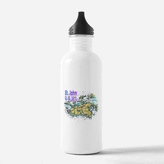 John U. S. V. I. chart Water Bottle