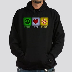 Peace Love and Bacon Hoodie (dark)