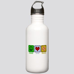 Peace Love and Bacon Stainless Water Bottle 1.0L