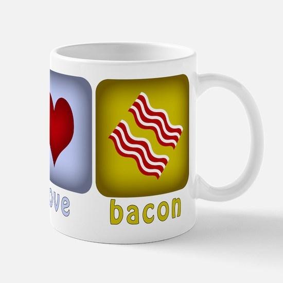 Peace Love and Bacon Mug
