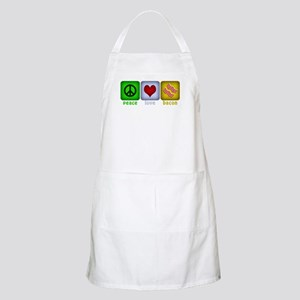 Peace Love and Bacon Apron
