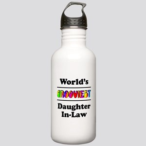 World's Grooviest Daughter-In-Law Stainless Water
