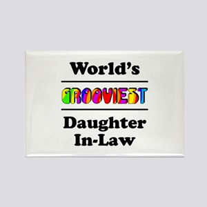World's Grooviest Daughter-In-Law Rectangle Magnet