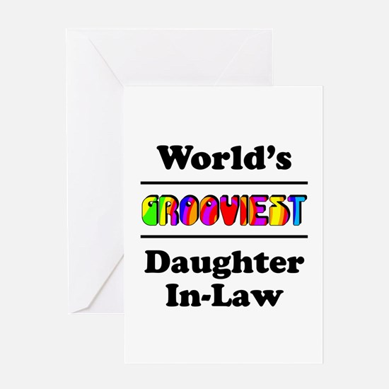 World's Grooviest Daughter-In-Law Greeting Card
