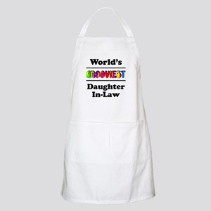 World's Grooviest Daughter-In-Law Apron