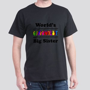 World's Grooviest Big Sister Dark T-Shirt