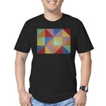 Triangles Men's Fitted T-Shirt (dark)