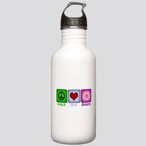Peace Love and Donuts Stainless Water Bottle 1.0L