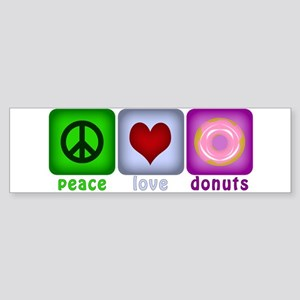 Peace Love and Donuts Sticker (Bumper)