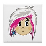 Cute Emo Punk Girl Tile Coaster