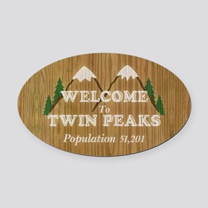 Welcome To Twin Peaks Oval Car Magnet