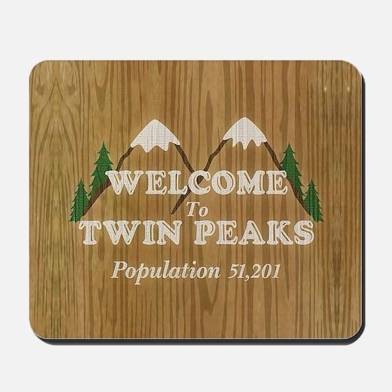 Welcome To Twin Peaks Mousepad