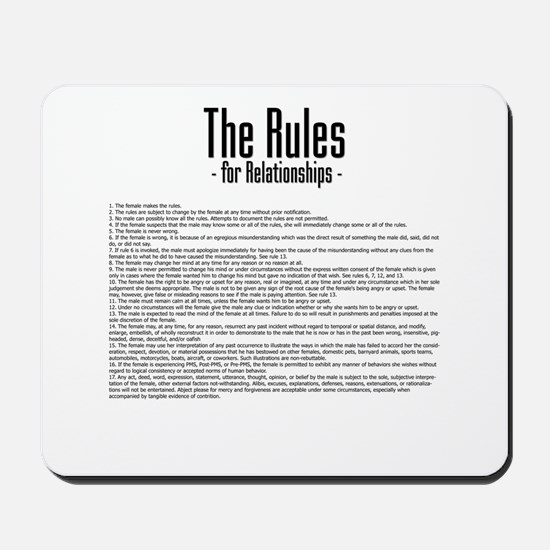 The Rules For Relationships Mousepad