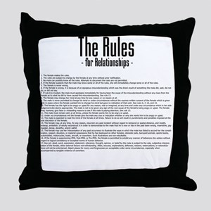 The Rules For Relationships Throw Pillow