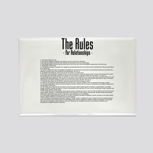The Rules For Relationships Rectangle Magnet