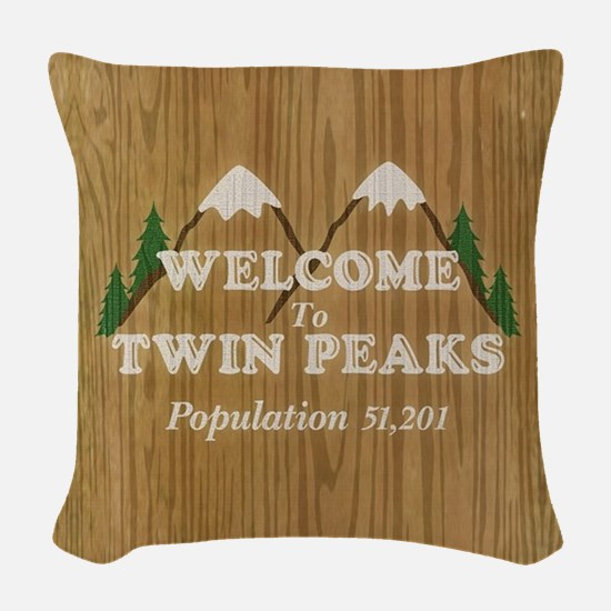 Welcome To Twin Peaks Woven Throw Pillow