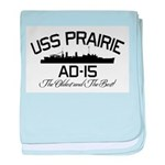 USS PRAIRIE AD-15 baby blanket
