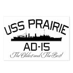 USS PRAIRIE AD-15 Postcards (Package of 8)