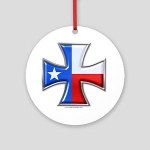 Iron Cross Texas 3D Ornament (Round)