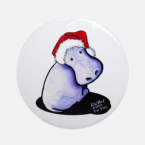 Holiday Hippo Ornament (Round)