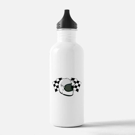 Helmet & Flags Water Bottle