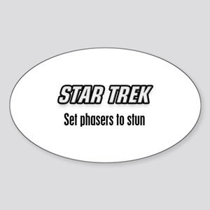 Set Phasers to Stun Sticker (Oval)