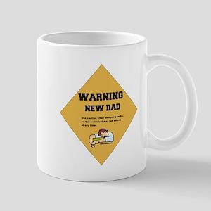 Warning New Dad Mug