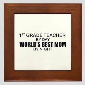 World's Best Mom - 1st Grade Framed Tile