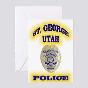 St George Police Greeting Card
