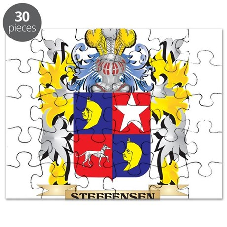 Steffensen Family Crest - Coat of Arms Puzzle