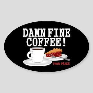 Twin Peaks Damn Fine Coffee Sticker