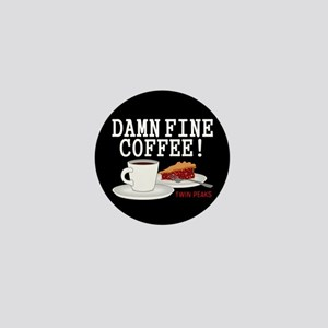 Twin Peaks Damn Fine Coffee Mini Button