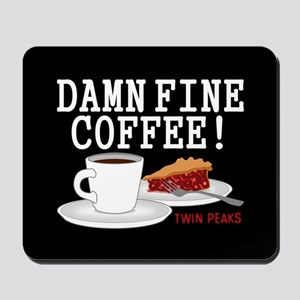 Twin Peaks Damn Fine Coffee Mousepad