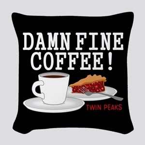 Twin Peaks Damn Fine Coffee Woven Throw Pillow
