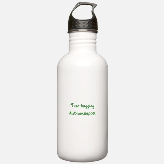 Tree-Hugging Dirt-Worshipper Water Bottle