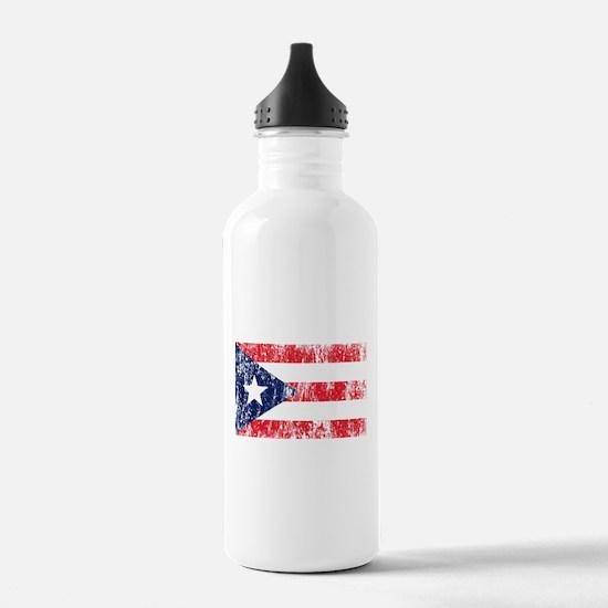 Puerto Rican Pride Flag Water Bottle