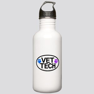 Vet Tech oval Stainless Water Bottle 1.0L