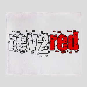 Rev 2 Red Throw Blanket